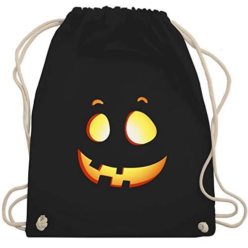 Shirtracer Halloween Kind - süßer Halloween-Kuerbis Kinder - Unisize - Schwarz - halloween turnbeutel - WM110 - Turnbeutel und Stoffbeutel aus Baumwolle