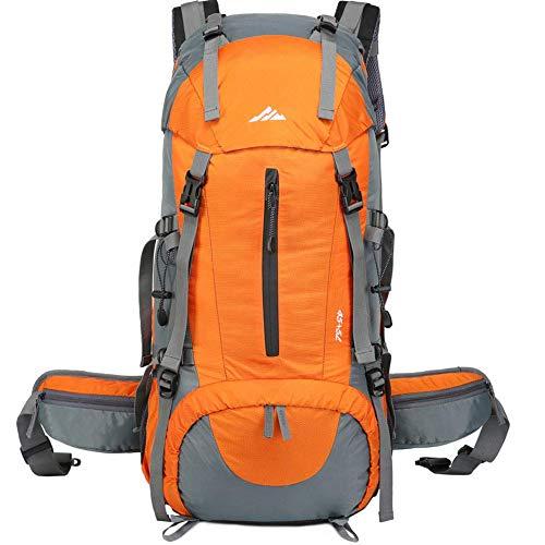 Lukasa Zaino da Trekking 50L, Uomo Donna 45L + 5L Zaino Impermeabile Zaino da Trekking da Viaggio da Escursionismo Esterno con parapioggia Escursionismo, Alpinismo e Sport di Viaggio Arancione