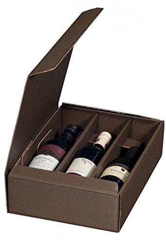 "smartboxpro 222135125 Wein-Pr""sentkarton, FR 3 Flaschen, Bordeaux"