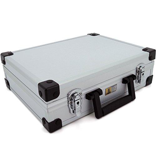 allit 424100 - Valigetta per attrezzi AluPlus Basic, misura L, colore: Argento