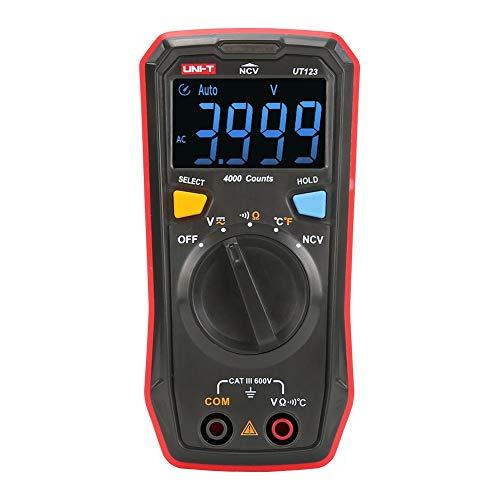 Mini Digital Multimeter UT123 EBTN Farbdisplay AC/DC Spannung Temperatur Strom/NCV Tester