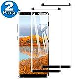 [2 Pack] Amonke Protector de Pantalla para Samsung Galaxy Note 8 Cristal Templado, 3D Curvado Completa Cobertura, 9H Dureza Alta Definicion Vidrio Templado Screen Protector para Samsung Galaxy Note 8