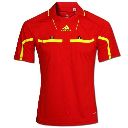 Adidas Schiedsrichter Trikot REFEREE JERSEY kurzarm Gr.S rot-gelb (P49177)