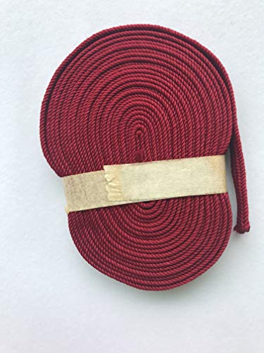 500cm Silk ito sageo Wrapping Cord for Japanese Samurai Sword Katana wakizashi (Dark red-SA12, 500CM)