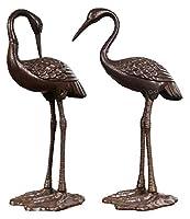 彫刻 置物・オブジェ ヘロン鳥の像、庭の鳥の彫刻装飾金属鋳鉄クラフトモデル屋外の池の風景の装飾デスクトップの装飾 工芸品の彫刻