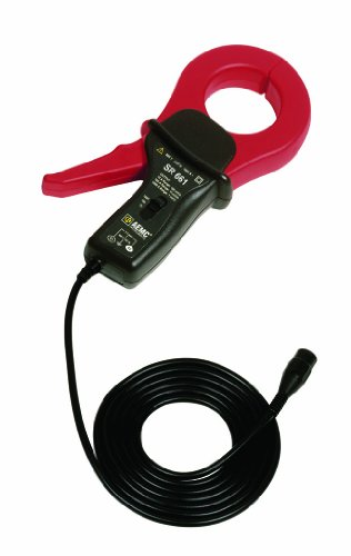 AEMC SR661 AC Current Probe with 6.5' BNC Connection, 0.1 to 2000Apk Range, 10A-100mV/A, 100A-10mV/A, 1000A-1mV/A Output