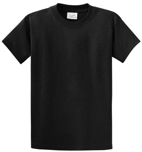 Joe's USA(tm - Youth Heavyweight Cotton Short Sleeve T-Shirt in Size L Jet Black Black Youth Heavyweight T-shirt