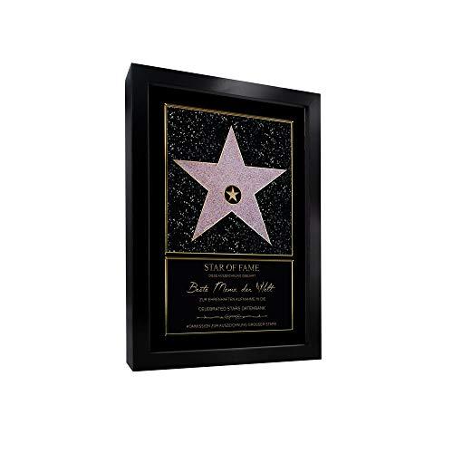 Personalisierter Hollywood Stern im Walk of Fame Stil Star of Fame Urkunde Familie Freunde:selbst gestalten