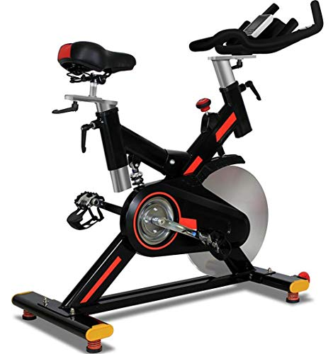 Find Bargain Indoor Cycling Bicycle Trainers Magnetic Resistance Belt Driven With Spring Shock Absorption 20 Kg Flywheel With Multifunctional Display & Tablet Holder Adjustable Seat Height For Men & Women