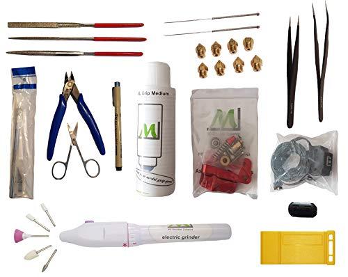 ML 3D-Drucker Zubehör Starter-Set 25 tlg. Filament säuberer, Filament Sensor, Bowden Extruder, Düsen und vieles mehr, so werden Sie Profi in Ihrem Hobby.