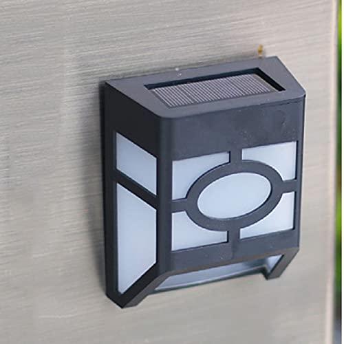 Luz Solar Exterior, Impermeable Aplique Solar Exterior, Lampara Con Sensor Día/Noche, Luces Solares LED Exterior Jardin, Apliques de Pared Modernos, para Jardín, Calle, Valla (Color : Warm light)