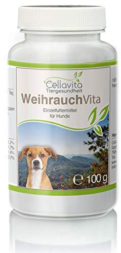 Cellavita Weihrauch (Boswellia papyrifera) Pulver | Schadstoffe und Belastungen geprüft | 100g für Hunde & Tiere