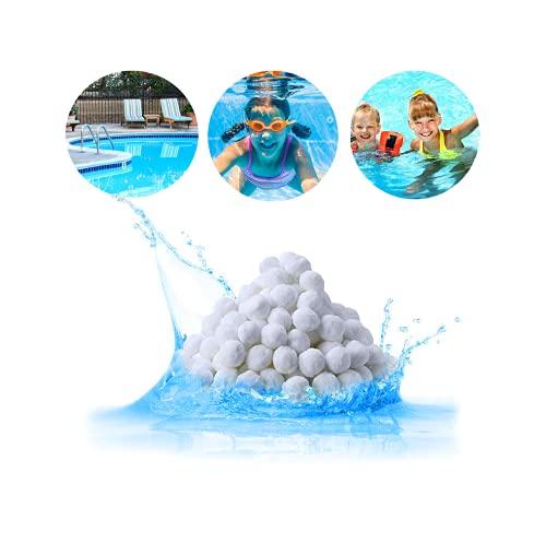 qerich Pool Filter Balls, Filterbälle Für Sandfilteranlage, Pool Pumpe Mit Filter Sand,Aquarium Filtersand,Pumpe Für Sandfilteranlage Für Schwimmbad,Filtersand Pumpe, 700g Pool Filter Balls