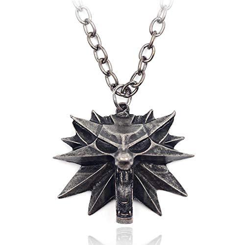 The Witcher3,Colgante De Cabeza De Lobo De Aleación De Zinc, Collar Para Hombre, Colgante, Joyería, Decoración Para Fiestas Navideñas, Joyería Personalizada