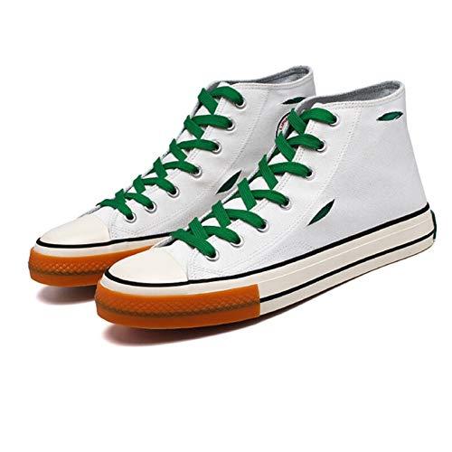 ZYSTMCQZ Hombres Zapatos de última Moda Masculina Zapatillas de Deporte del Top del Alto Automn Nueva Mujer Zapatos Antideslizantes Zapatos Caminar (Color : Highwhite, Shoe Size : 39)