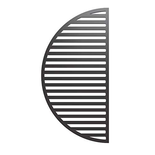 YNNI KAMADO Parrilla de hierro fundido con ranura de media luna de 55 cm, resistente, 3,5 kg, para barbacoa TQ25CRG
