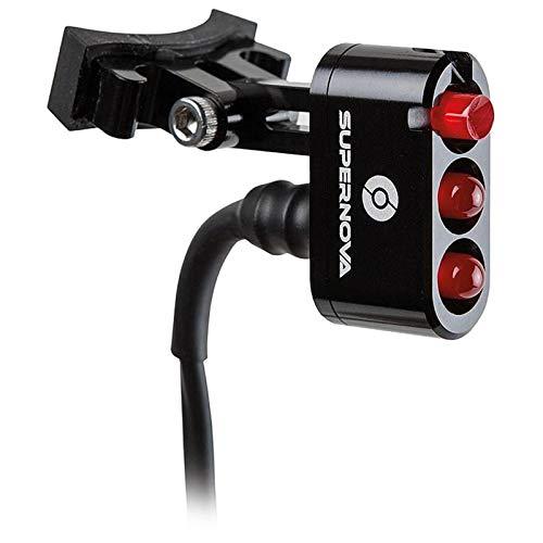 SUPER NOVA Unisex– Erwachsene E3 Tail Light 2 Rücklicht, Schwarz, 18 Gramm