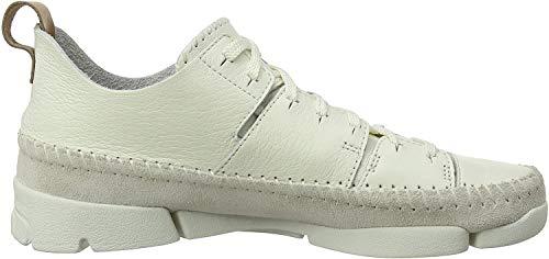 Clarks Trigenic Flex, Baskets Basses Femme, Blanc (White), 39.5 EU