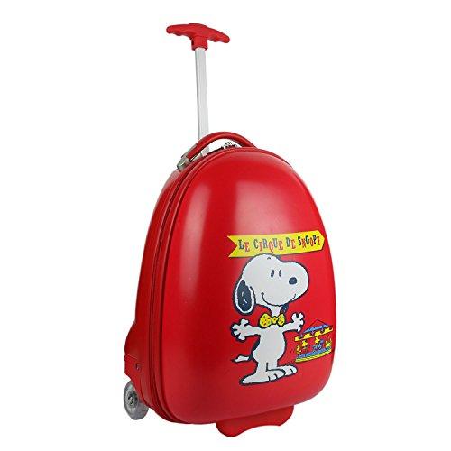 caso Snoopy y Mochila de equipaje para niños, 90 cm, Rojo