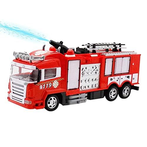 BPDD Coche de Control Remoto, pulverizador de Agua, camión de Bomberos, Coche de Juguete, Gran pulverizador de Agua eléctrico, luz de Carga, música, niño, Juguete para niños