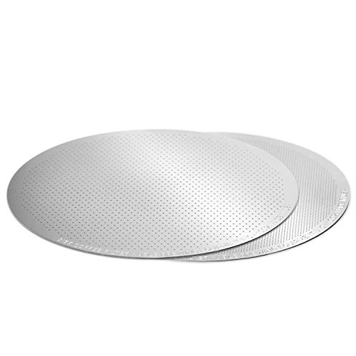 Able DISK Fine + Standard Set: The Original Reusable Metal Filter for AeroPress Coffee Maker - USA-Made Stainless Steel