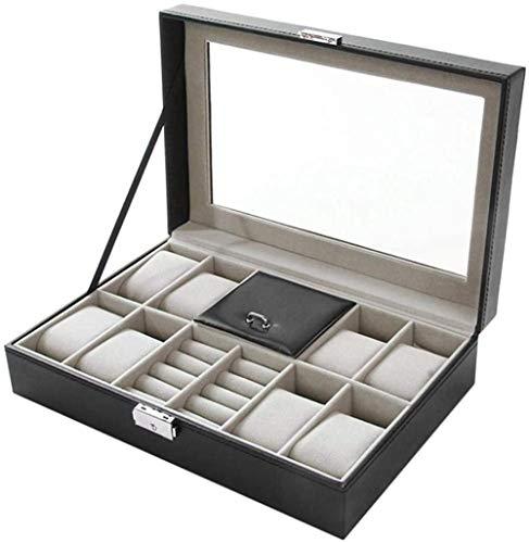 T.T-Q Joyero de PU joyero Cajas para Relojes joyero Caja de Almacenamiento Caja de presentación Caja de Regalo de cumpleaños joyero 32 * 22.5 * 11cm
