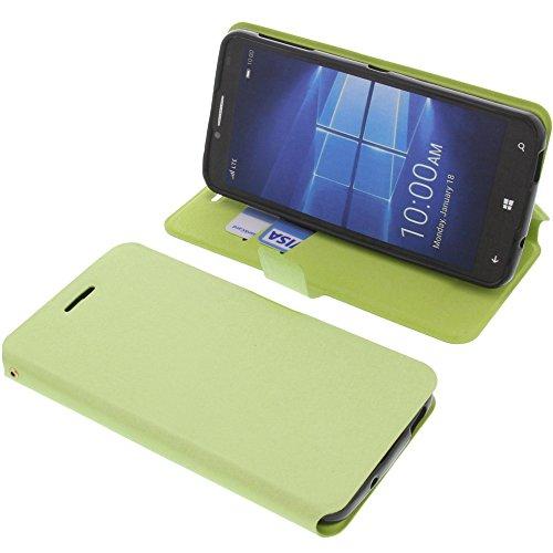 foto-kontor Tasche für Alcatel One Touch Idol 4 Pro Book Style grün Schutz Hülle Buch