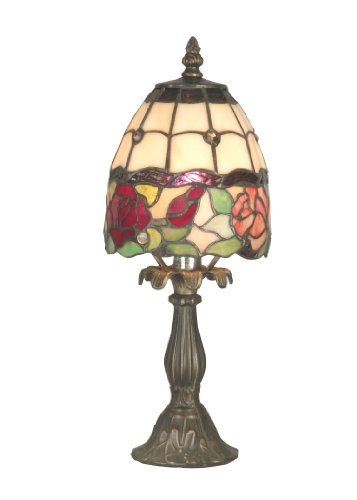 Dale Tiffany TA70711 Enid Table Lamp, Antique Brass and Art Glass Shade