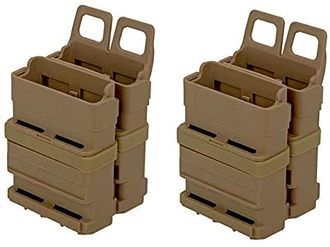 LOBOLOKO VIERERPACK - FastMag 5.56 - M4 - Molle Magazintasche, Oliv Green oder TAN/DE, Four Pack MAG Pouch AR15 (TAN)