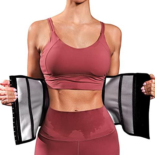 CHUMIAN Fascia Addominale Dimagrante per Donna Waist Trainer Regolabile Cintura Allenamento Sauna di Neoprene Snellente per Dimagrire (Nero, XL)