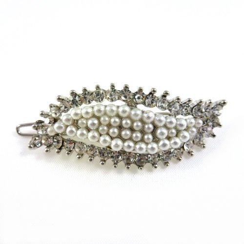 rougecaramel - Accessoires cheveux - Pince cheveux fantaisie mariage cérémonies - blanc