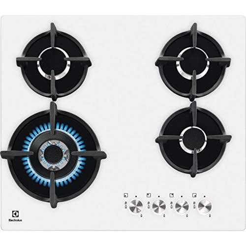 Electrolux - Piano cottura a gas PVB 64 NUOV in cristallo temprato bianco da 59cm