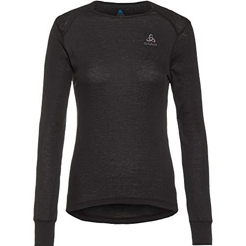 Odlo Women's Active WARM ECO Long-Sleeve Base Layer Top, Black, L