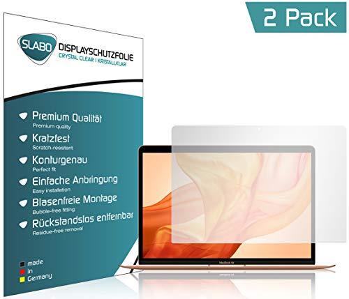 Slabo 2 x Pellicola Protettiva per Display per MacBook Air 13' (2018) | Air 13' (2020) Protezione Crystal Clear