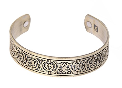 fishhook Vintage Bracelet Tree of Life Magnetic Therapy Celtic Knotwork Bangle Cuff Women Men Bracelet for Blood Circulation Reduce Stress Reduce Anxiety (Antique Bronze)