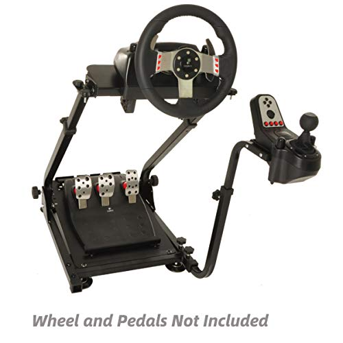 Marada Steering Wheel Stand Shifter Mount, G29 Racing Steering Wheel Stand Height Adjustable, Gaming Wheel Stand fit for Logitech G920 G29 G27 G25, Wheel and Pedals NOT Included