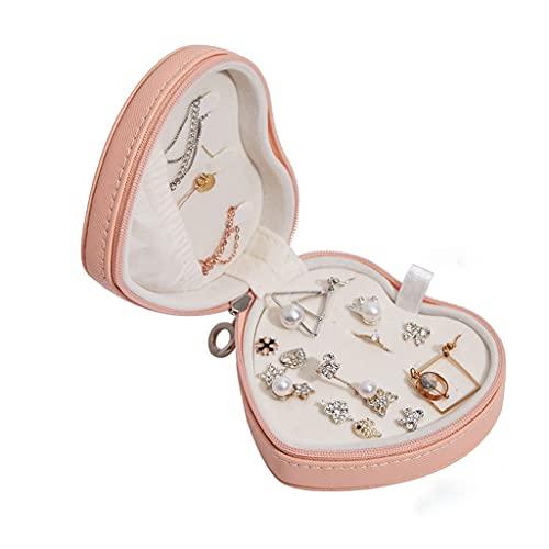OMIDM Caja de joyería, Forma de corazón Trinke Caja Joyería Caja de joyería pequeña Tinket Caja de Almacenamiento para Anillos y aretes-Pink Green Blanco Negro Joyería (Color : B)