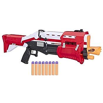 Nerf Fortnite TS Blaster -- Pump Action Dart Blaster 8 Official Nerf Mega Fortnite Darts Dart Storage Stock -- for Youth Teens Adults