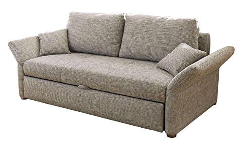 AVANTI TRENDSTORE - Joblino - Divano letto con cassettone integrato e poggiabraccia regolabili, in stoffa grigia, dimensioni: LAP 166x90x102 cm