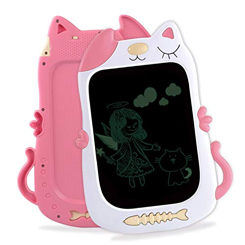 LCD Writing Tablet for Kids 3-7 Year Old, 8.5 Inch Electronic Drawing Pad Best Gift Educational E- Writer with Lock Function for Girl Toy Aged 3 4 5 6 7 Pink