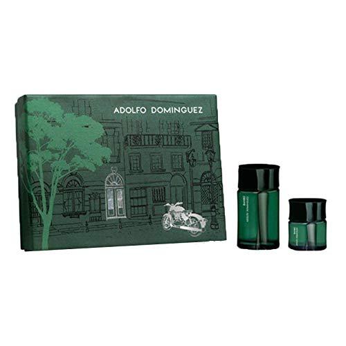 Adolfo Dominguez Bambu Lote Eau Pulvérisée Set Cologne + Lotion pour Corps + Mini Eau de Cologne 150 ml