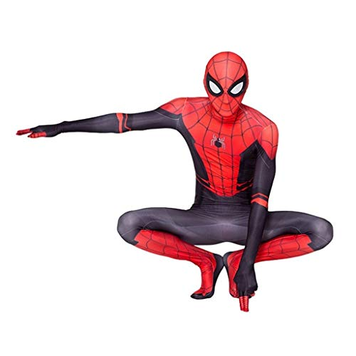 Spiderman Cosplay Costume Halloween Tights Jumpsuit 3D Digital Print Movie Accessories (Color : Picture Color, Size : 120)