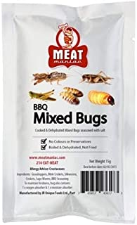 Meat Maniac BBQ Mixed Bugs   Edible Insects   Big Crickets, Sago Worms, Mole Crickets and Silkworms