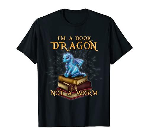 I'm a Book Dragon - Bookworm Gifts - Bookish Reader T-shirt T-Shirt