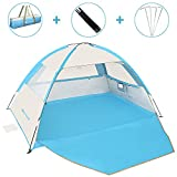 Gorich [2020 Upgrade Beach Tent,UV Sun Shelter Lightweight Beach Sun Shade Canopy Cabana Beach Tents Fit 3-4 Person
