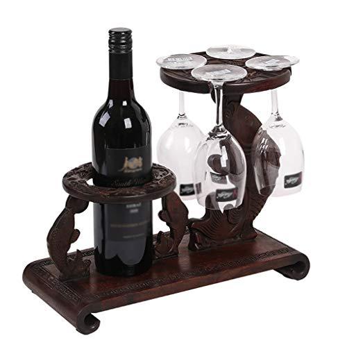 RENSLAT Rosquillas de Vino de Caoba de Palisandro Rostería de Vino sólido con estantes de Vino Creativo Vino Europeo bastidores de Vino de Madera