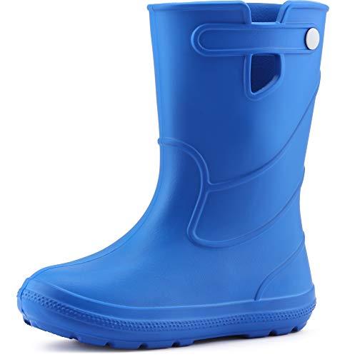 Ladeheid Eva Kinder Jungen Mädchen Jugendliche Gummistiefel Regenschuhe LA-CA-02 (Blau 32/33 EU)