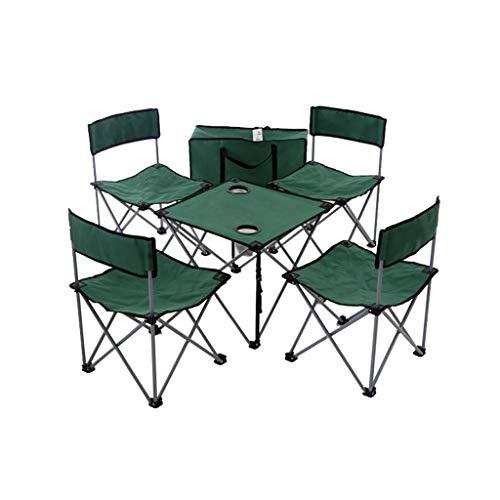 Nosterappou Table et chaise pratiques, dossier rabattable, fauteuil de camping et table de barbecue en plein air, table et barbecue de pêche au barbecue, tissu 600D Oxford de haute qualité, plus durab