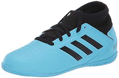 adidas Unisex-Kid's Predator 19.3 Indoor Soccer Shoe, Bright Cyan/Black/Solar Yellow, 2 M US Little Kid