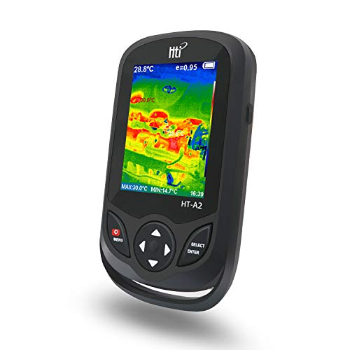 320 x 240 IR Resolution Thermal Camera, Pocket-Sized Infrared Camera with 76800 Pixels Real-Time Thermal Image, Temperature Measurement Range -4°F to 572°F, Mini IR Thermal Imager, Hti-Xintai